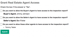 Real Estate Agent access form